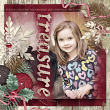 """#digitalscrapbooking layout idea using """"My Merry Wish"""" Collection by AFT designs"""