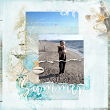 """digital scrapbooking layout """"Summer"""" by AFT designs using Take Time Blends brushes and templates 