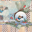 "#digitalscrapbooking layout idea ""Winter"" by AFT designs using Winter Timber Paper Backgrounds and Embellishments #digiscrap #idea #layout #papercraft"