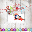 Winter #digitalscrapbooking layout idea by AFT designs using Photoshop styles and Winter Magic 1 Brush Set