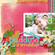 "Digital Scrapbooking layout ""Budding Friendship"" by AFT designs"