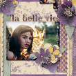 "Digital Scrapbooking layout idea ""La Belle Vie"" by Amanda Fraijo-Tobin - AFT Designs 