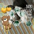'You Lift Me Up' #digitalscrapbooking layout by Amanda Fraijo-Tobin | AFT Designs available ScrapGirls.com #scrapbooking layout idea #valentines