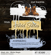 Samples of Winter Magic Mask Jots - Photoshop Embellishment Templates