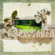 """""""Moments Captured"""" digital scrapbooking layout by AFT designs using Vellum Fancy Collection"""