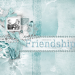 """Here's To Friendship"" digital scrapbooking layout idea by AFT designs | Amanda Fraijo-Tobin #oscraps #digiscrap #photoshop"