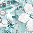 Aquamarine Digital Scrapbooking Mini Kit by AFT designs @Oscraps.com #birthstone #aquamarine #march