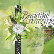 """Beautiful, Amazing"" digital scrapbooking spring green layout idea by AFT designs - Amanda Fraiijo-Tobin @Oscraps.com #digitallayout #digitaldesign"