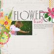 """Flower Hunt"" Spring digital scrapbooking layout idea by AFT Designs - Amanda Fraijo-Tobin | #digitalscrapbooking #digiscrap #scrapbook"