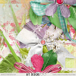 Detail of some elements included in All Spring digital scrapbooking clusters and blends by AFT designs