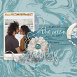"""Seaside Love"" digital scrapbooking layout idea by AFT Designs - Amanda Fraijo-Tobin @Oscraps.com #scrapbook #templates #layout"