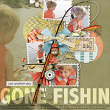 """Gone Fishin"" digital scrapbooking layout by AFT designs 