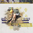 """Adventurous Dude"" digital scrapbooking layout idea by Amanda Fraijo-Tobin - AFT Designs using Adventruous His Mini Kit"