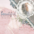'Beautiful' digital scrapbooking layout sample by AFT Designs Amanda Fraijo-Tobin using Photoshop Textured Overlays - Subtle Canvas #digitalscrapbooking