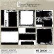Paper Templates - Grungy Stencils by AFT Designs - @Oscraps.com #digitalscrapbook