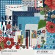 Digital Scrapbooking Kit Americana Blues Colection by AFT Designs - Amanda Fraijo-Tobin @Oscraps.com #digiscrap #usa #photobook