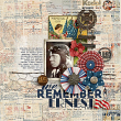 Memorial Day #digitalscrapbooking layout idea by Amanda Fraijo-Tobin using 'Americana Blues Collection' #scrapbook #photobook #veterans #military