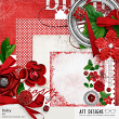 Ruby digital scrapbooking July Birthstone Kit by AFT Designs - Amanda Fraijo-Tobin