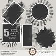 Sun Filled Mask Frames by  AFT designs | aftdesigns.net #digitalscrapbook #embellishments #artjournal
