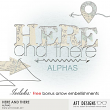 Here and There Alphas by AFT Designs @Oscraps.com - #oscraps #printables #digitalscrapbooking