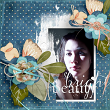 """Bright Beauty"" #digiscrap layout idea by Amanda Fraijo-Tobin - AFTdesigns @oscraps.com | #scrapbook #memorykeeing #photoedit"