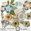 Illuminate digital scrapbooking Paper Flower Embellishments by AFT Designs @Oscraps.com  #digitalscrapbooking #embellishments #florals