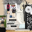 "Digital Scrapbooking ""Do Your Best"" layout by AFT Designs - Amanda Fraijo-Tobin using ""School Basics"" #digitalscrapbooking kit"