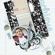 "Digital Scrapbooking ""Achieve"" layout by AFT Designs - Amanda Fraijo-Tobin using ""School Basics"" #digitalscrapbooking kit"
