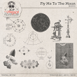 Fly Me To The Moon Brushes by On A Whimsical Adventure