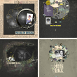 Digital creative team layouts using Fly Me To The Moon by On A Whimsical Adventure