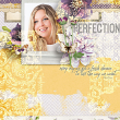 """""""Perfection"""" #digitalscrapbooking layout idea by AFT Designs - Amanda Fraijo-Tobin using Blended Collage Paper Templates 