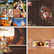 Digital layouts using Thank You Bundle by On A Whimsical Adventure