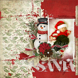 Sant Baby #digitalscrapbooking layout by AFT Designs - Amanda Fraijo-Tobin | #digiscrap #scrapbooking #layout #christmas #xmas