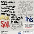 Brush Set: Wonky Weeks by AFT Designs - Amanda Fraijo-Tobin @Oscraps.com   #photoshop #brushes #planner