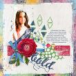 Bold #digitalscrapbooking layout by AFT Designs - Amanda Fraijo-Tobin using Beginnings Digi Scrapbook Kit | www.aftdesigns.net