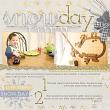 Snow Day scrapbooking layout by Amanda Fraijo-Tobin - AFT Designs using Winter Fantasy Kit