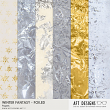 Winter Fantasy Foiled Papers by AFT Designs #printable foiled backgrounds