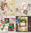 Digital layouts using A Sweet Eggscape Bundle by On A Whimsical Adventure