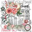 Digital Scrapbook Kit by Vicki Stegall Designs @ Oscraps.com - Shabby Chic - Home Is... embellishments