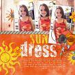 """Sun Dress"" #digitalscrapbook layout by AFT Designs - Amanda Fraijo-Tobin using Layer Styles - Worn Paint"