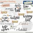 October Feeling WordArt by Aftermidnight Design