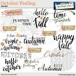 October Feeling WordArt by Aftermidnight Design