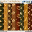 Golden Thanksgiving Papers by Aftermidnight Design