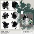 Embellishment Templates - Floral Masks 01 by AFT Designs @Oscraps.com