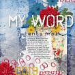 'My Word' #digitalscrapbooking art journaling digital layout by AFT Designs - Amanda Fraijo-Tobin