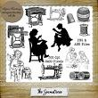 The Seamstress - Stamps - Set 2 by Idgie's Heartsong