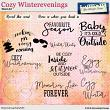 Cozy winterevenings WordArt by Aftermidnight Design