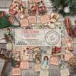18 Victorian style printable Christmas tickets by On A Whimsical Adventure