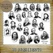 US PRESIDENTS - 65 PNG Stamps and ABR Brush Files by Idgie's Heartsong