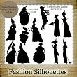 FASHION SILHOUETTES - 13 PNG Stamps and ABR Brush Files by Idgie's Heartsong